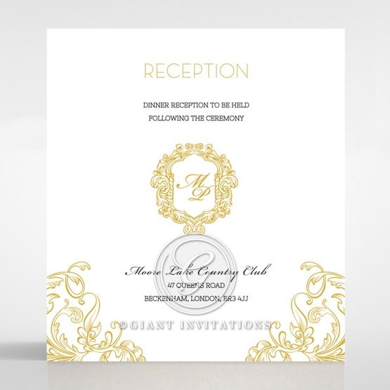 Modern Crest reception card DC116122-DG