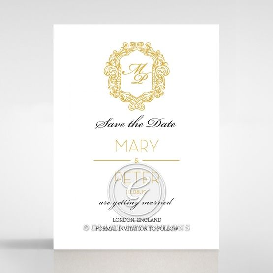 Modern Crest save the date DS116122-DG