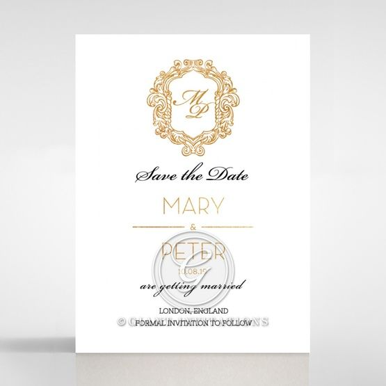 Modern Crest save the date DS116122-KI-GG