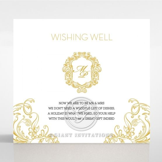 Modern Crest wishing well card DW116122-DG