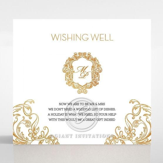Modern Crest wishing well card DW116122-KI-GG