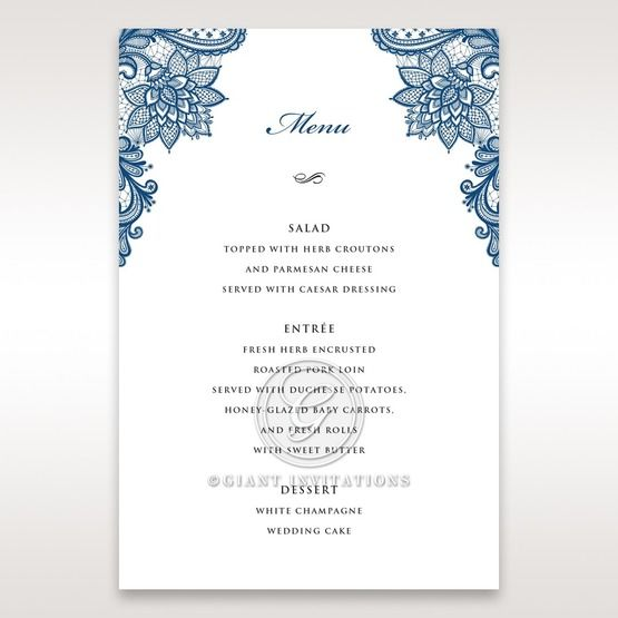 Noble Elegance menu card DM11014