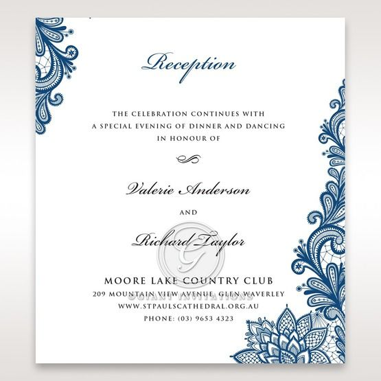 Noble Elegance reception card DC11014