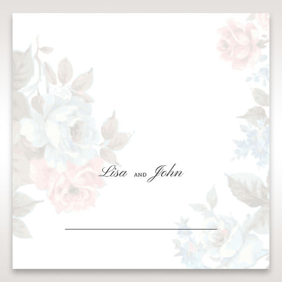Blue Magical Flower Garden - Place Cards - Wedding Stationery - 15