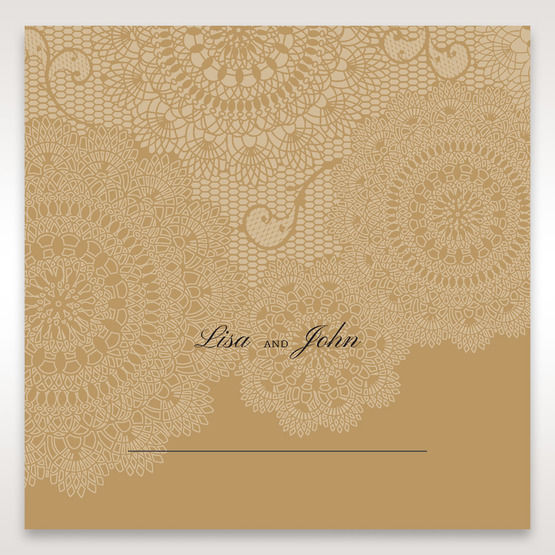 Yellow/Gold Tri-Fold Laser Cut Gold - Place Cards - Wedding Stationery - 16