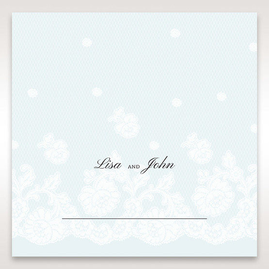 Silver/Gray Floral Couture in Blue & White - Place Cards - Wedding Stationery - 89