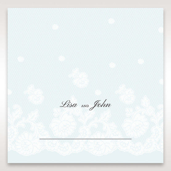 Brown Floral Couture in Blue & White - Place Cards - Wedding Stationery - 90