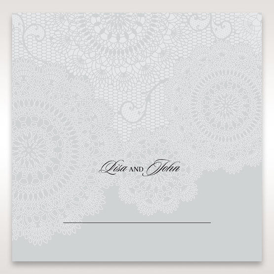 Silver/Gray Handmade Vintage Lace Floral - Place Cards - Wedding Stationery - 39