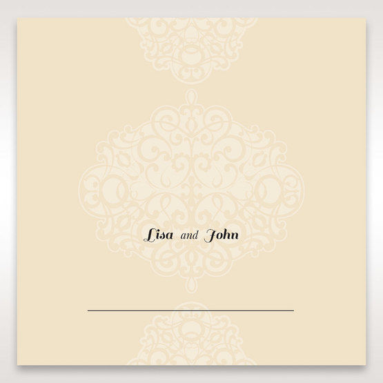 Yellow/Gold Jeweled Laser Cut - Place Cards - Wedding Stationery - 86