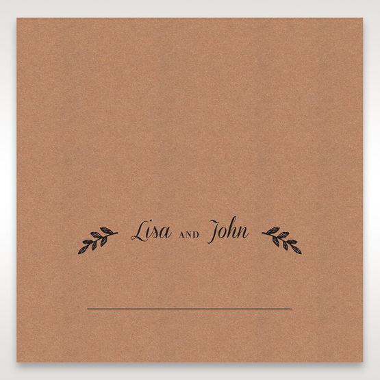 Brown Rustic - Place Cards - Wedding Stationery - 72