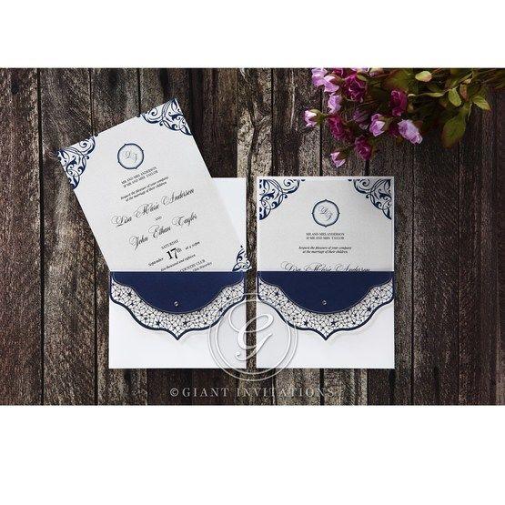 Jewelled_Navy_Half_Pocket-Wedding_invitation-in_Grey