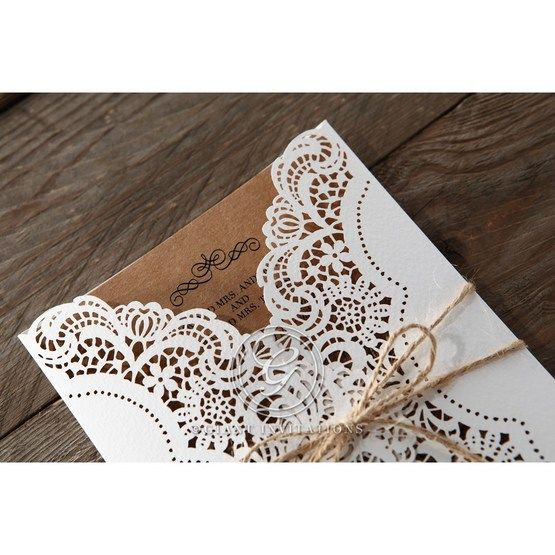 Brown Country Glamour - Wedding invitation - 19