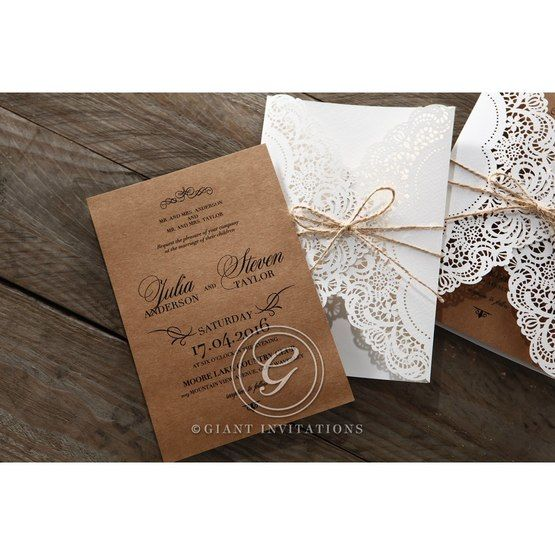Brown Country Glamour - Wedding invitation - 22