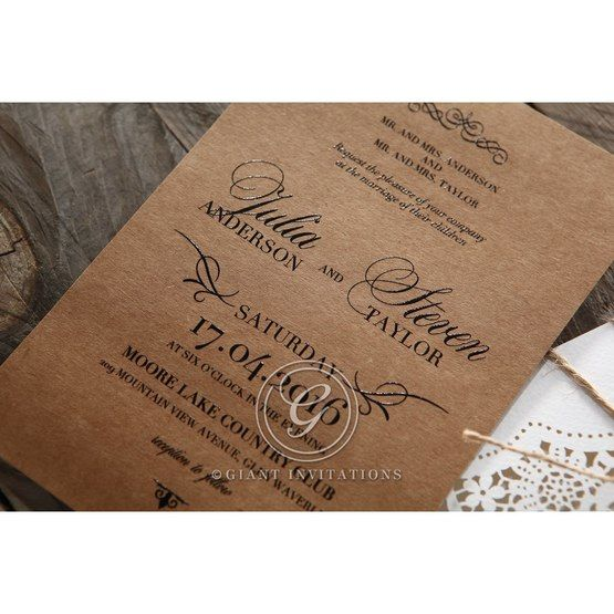 Brown Country Glamour - Wedding invitation - 24