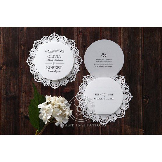 White Traditional Romance - Wedding invitation - 27