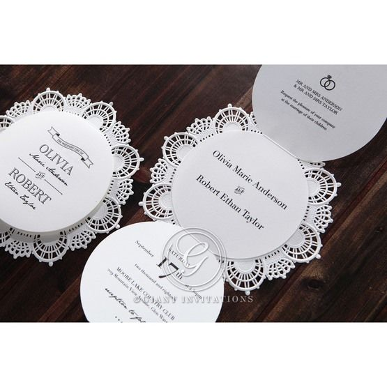 White Traditional Romance - Wedding invitation - 30