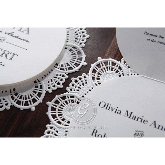 White Traditional Romance - Wedding invitation - 31