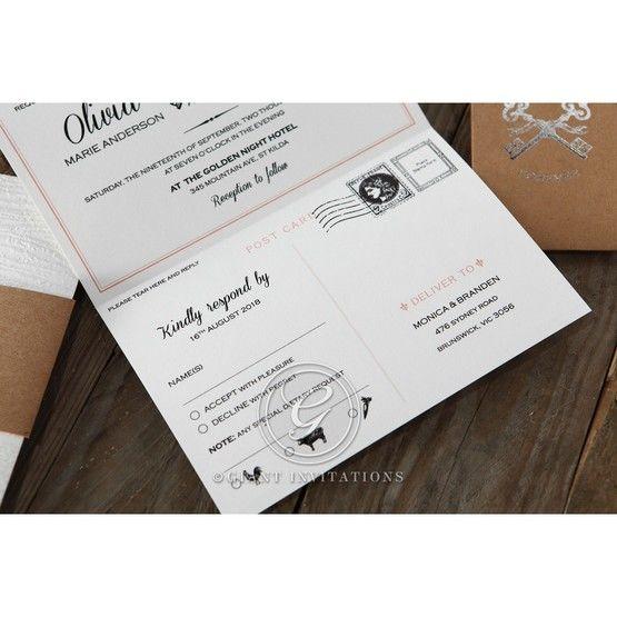 Brown Eternity - Wedding invitation - 54