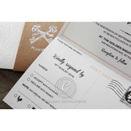 Brown Eternity - Wedding invitation - 55