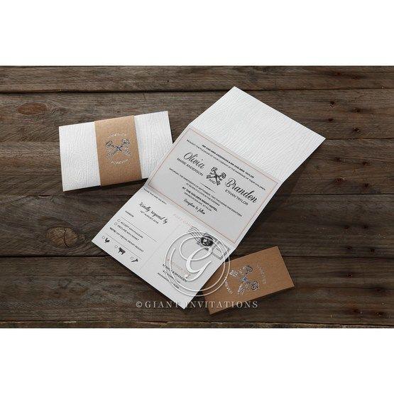 Brown Eternity - Wedding invitation - 62