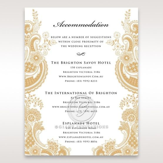 Prosperous Golden Pocket accommodation card DA11045