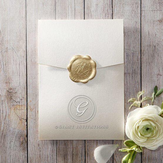 Prosperous Golden Pocket bridal shower invitations IAB11045-B