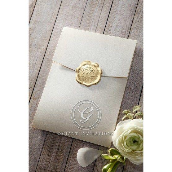Prosperous Golden Pocket bridal shower invitations IAB11045-B_1