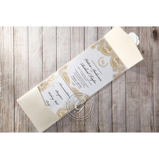 Prosperous Golden Pocket bridal shower invitations IAB11045-B_3