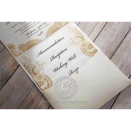 Prosperous Golden Pocket bridal shower invitations IAB11045-B_5