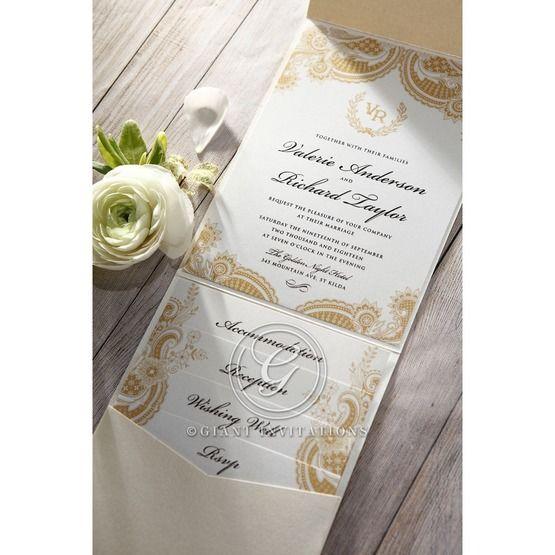 Prosperous Golden Pocket bridal shower invitations IAB11045-B_7