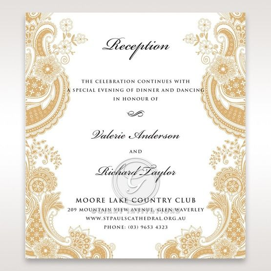 Prosperous Golden Pocket reception card DC11045