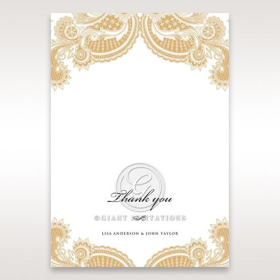 Prosperous Golden Pocket thank you card DY11045