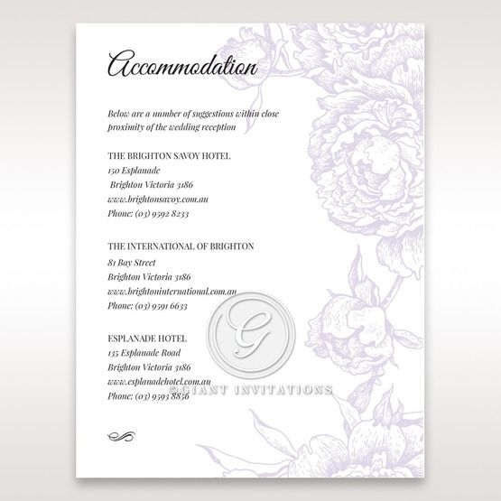 Romantic Rose Pocket accommodation card DA11049