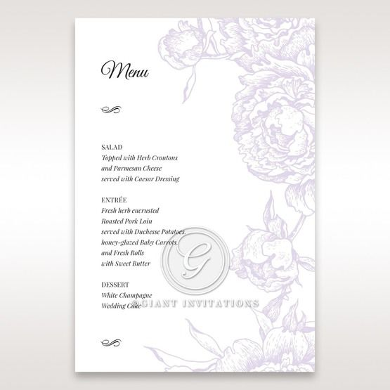 Romantic Rose Pocket menu card DM11049