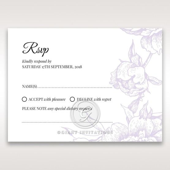 Romantic Rose Pocket rsvp card DV11049
