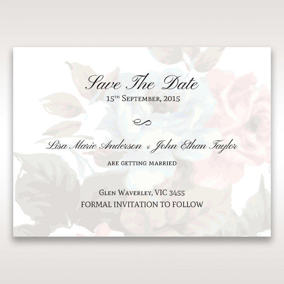 Blue Magical Flower Garden - Save the Date - Wedding Stationery - 29