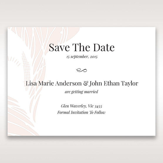 Orange Mystic Forest - Save the Date - Wedding Stationery - 0