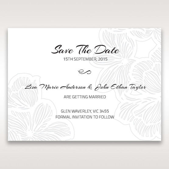 White Laser Cut Flower Frame - Save the Date - Wedding Stationery - 72