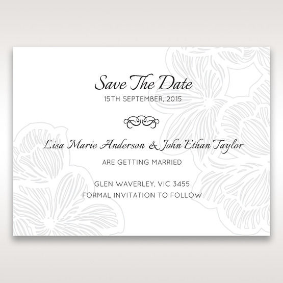 White Laser Cut Floral Lace - Save the Date - Wedding Stationery - 29