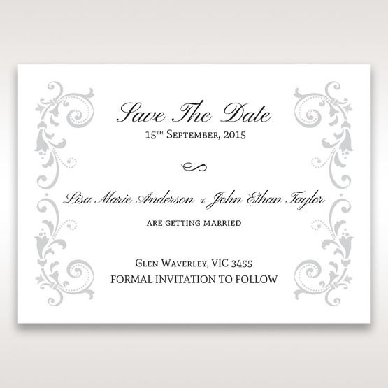 White Modern Times Vintage Pocket - Save the Date - Wedding Stationery - 39