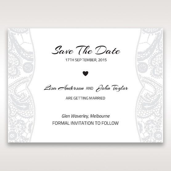 White White Dress - Save the Date - Wedding Stationery - 77