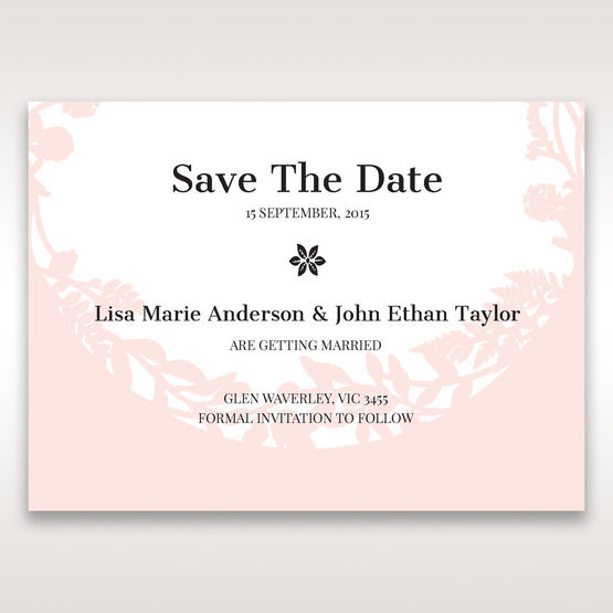 Pink Enchanted Forest I Laser Cut P - Save the Date - Wedding Stationery - 1