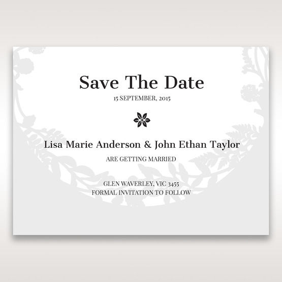 White Enchanted Forest I Laser Cut P - Save the Date - Wedding Stationery - 2