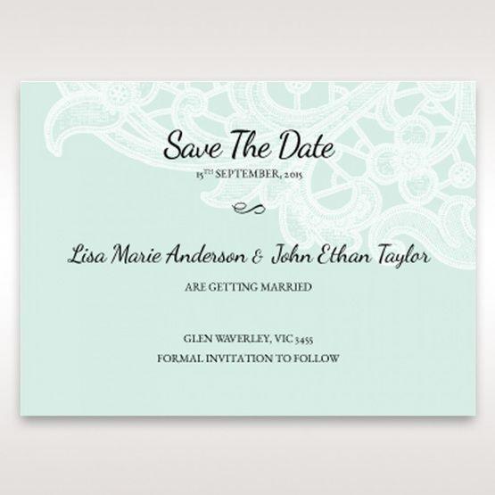 Blue Laser Cut Floral Pocket - Save the Date - Wedding Stationery - 97