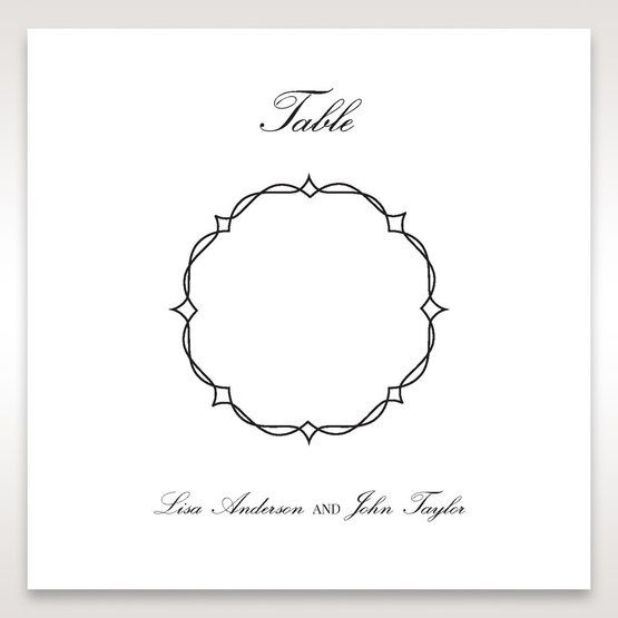 White Jeweled Romance Black Laser Cut - Table Number Cards - Wedding Stationery - 41