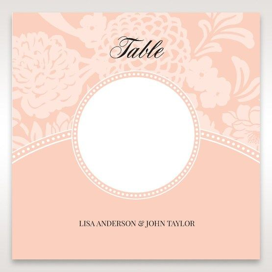 Pink Rustic Garden Laser Cut Pocket - Table Number Cards - Wedding Stationery - 57