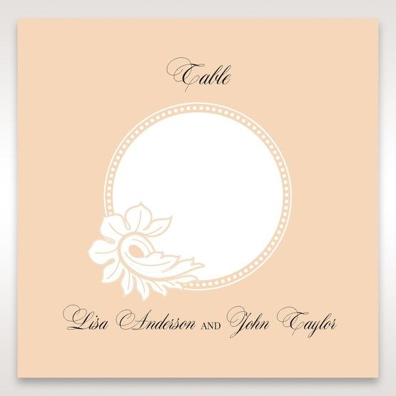 Beige White Laser Cut Wrap with Ribbon - Table Number Cards - Wedding Stationery - 73