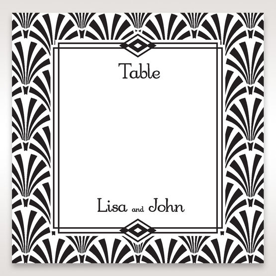Black Dazzling Silver Foil Stamped - Table Number Cards - Wedding Stationery - 96