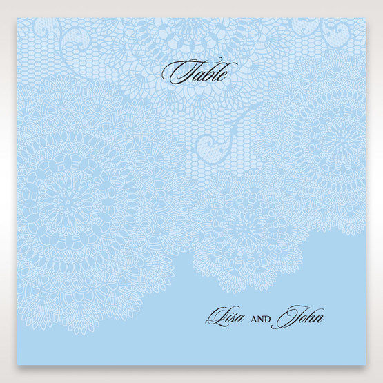 Blue Handmade Vintage Lace Floral - Table Number Cards - Wedding Stationery - 33