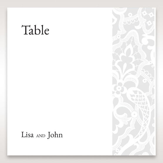 White Elegant Laser Cut - Table Number Cards - Wedding Stationery - 15